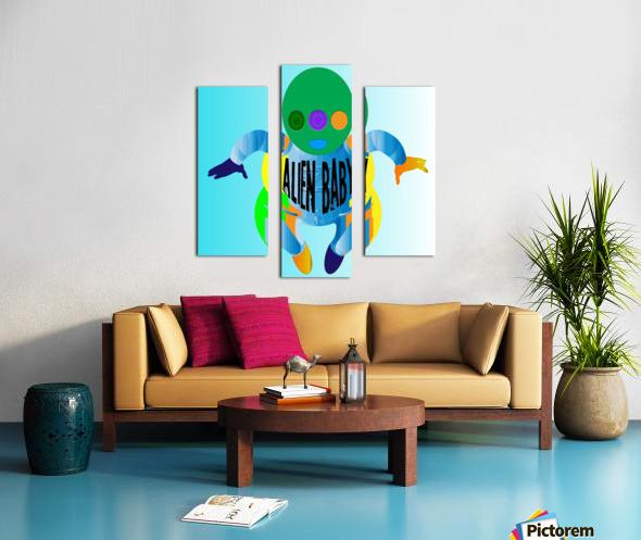 Alien Baby Canvas print