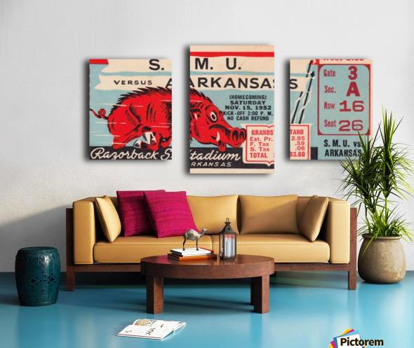 1952 SMU vs. Arkansas Canvas print
