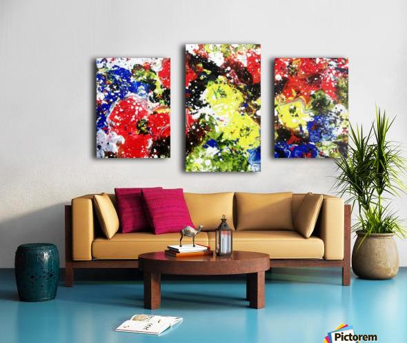 Primary Blossom Canvas print