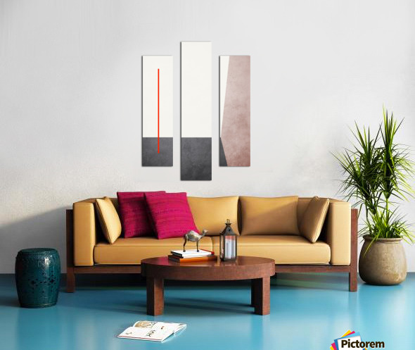Shapes 04 - Abstract Geometric Art Print Canvas print