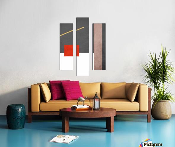 Shapes 03 - Abstract Geometric Art Print Canvas print