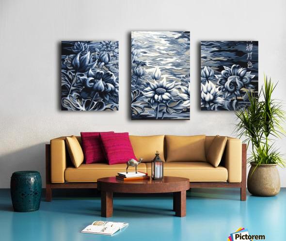 Silver night Canvas print