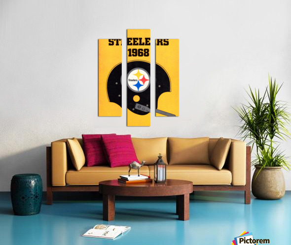1968_National Football League_Pittsburgh Steelers_Media Guide_Row One Brand Vintage Media Guide Art Canvas print