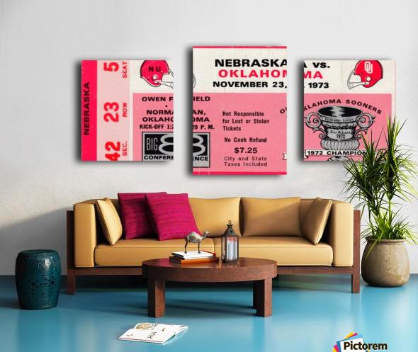 1973_College_Football_Oklahoma vs. Nebraska_Owen Field_University of Oklahoma Football Tickets Canvas print