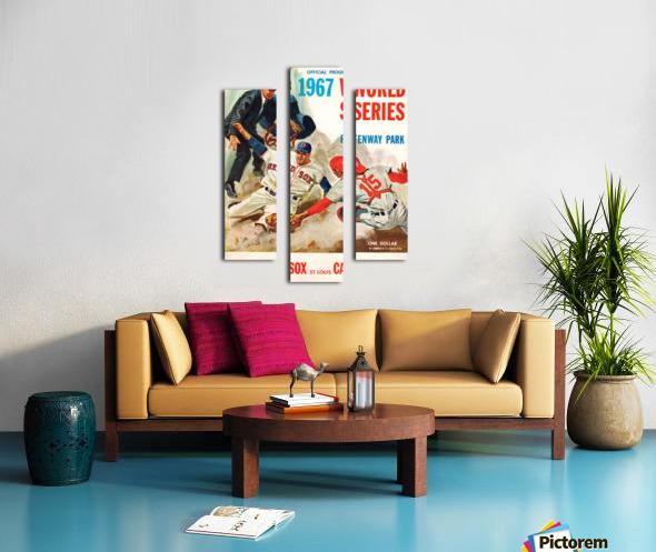 1967 World Series Program Cover Art Fenway Park Canvas print