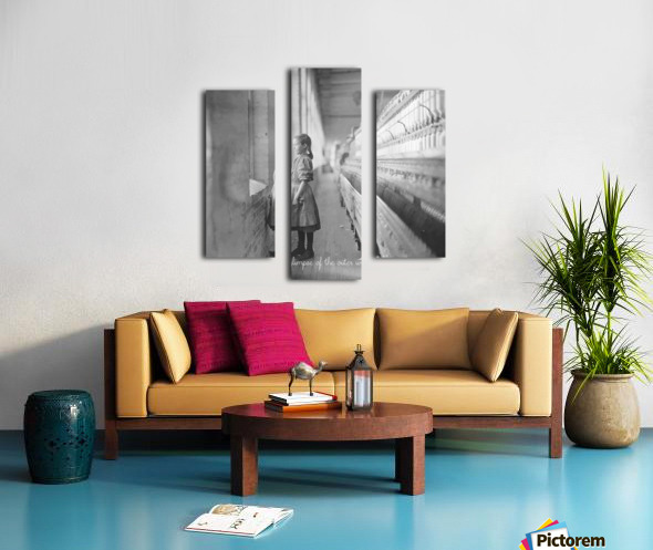 glimpse of the outer world in 1908 Canvas print