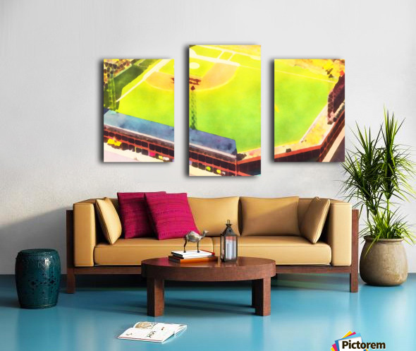 Baseball Ballpark Colorful Art Print Canvas print