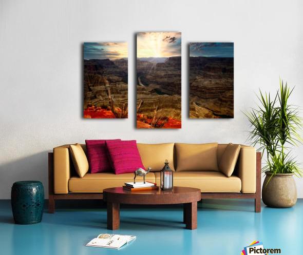 Sunrise over Grand Canyon Canvas print