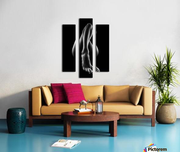 Nude woman bodyscape 56 Canvas print