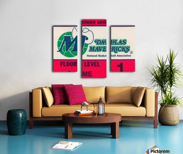 Vintage Dallas Mavericks Wall Art_Ticket Stub Artwork Reproduction Canvas print