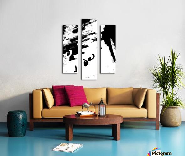 Black & White Form Texture Art D3200 1267 Canvas print