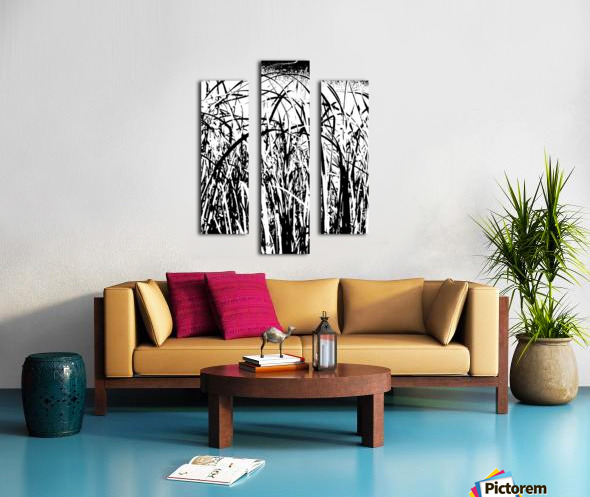 Black & White Nature Texture Canvas print