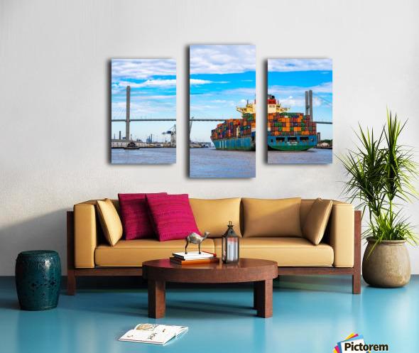 Cargo Ship on the Savannah River 04044 Canvas print