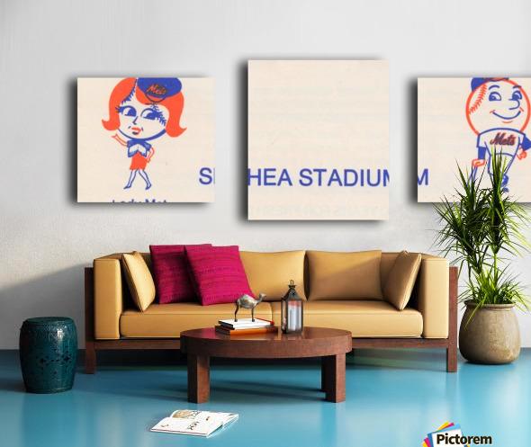 1977 new york mets art reproduction shea stadium retro baseball artwork row one brand Canvas print