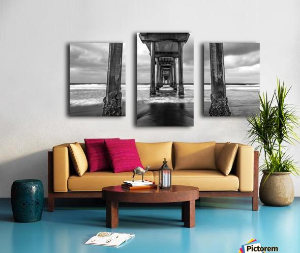 Scripps Pier in B&W Canvas print