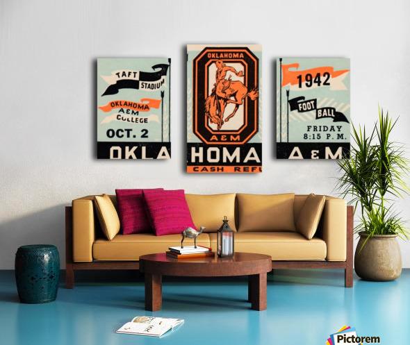 Vintage Oklahoma A&M Art Canvas print