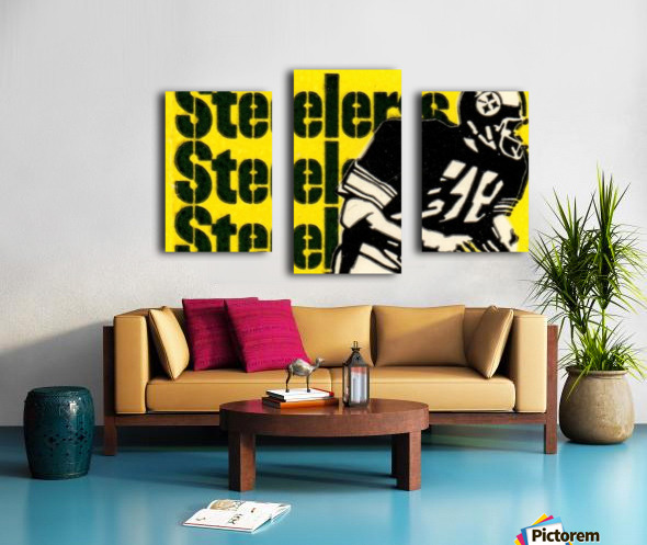 Vintage Pittsburgh Steelers Football Art Reproduction Canvas print