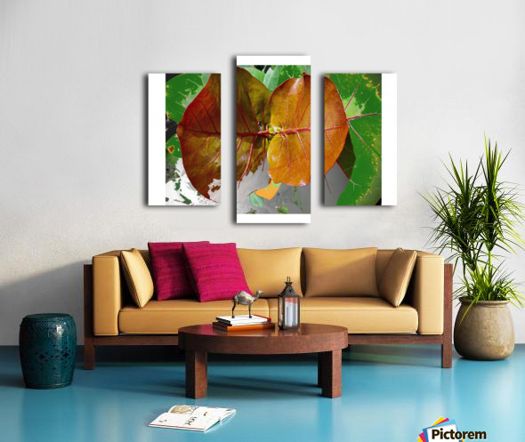 Tropical Tan Leaves Canvas print