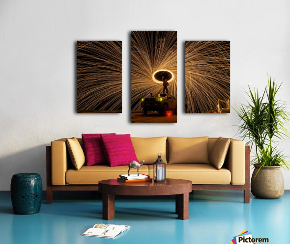 Hes on fire Canvas print
