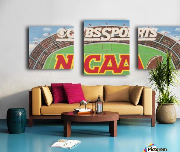 CBS Sports NCAA Football Ad Reproduction_Vintage Sports Ads_Retro 1980s Ad Canvas print
