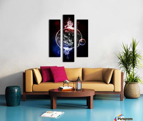Earth Atmospheric Vapors Canvas print