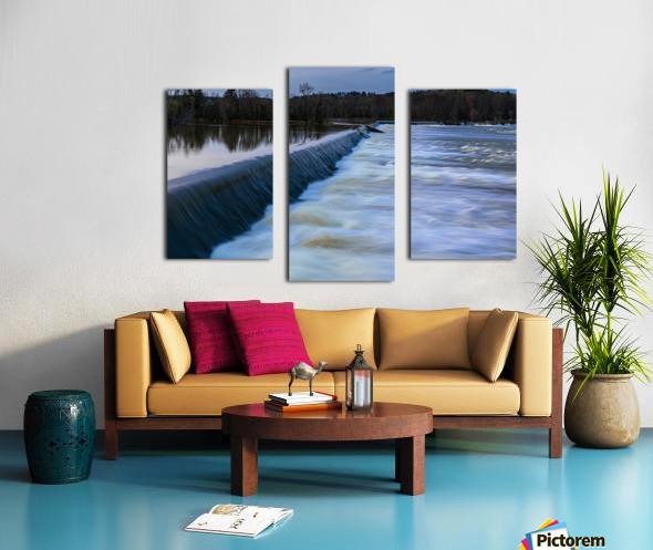 Savannah River Rapids in Columbia County   Augusta GA 6254 Canvas print