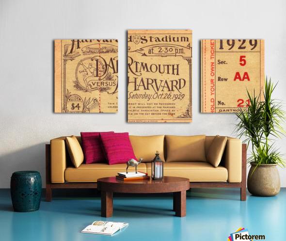 1929 Dartmouth vs. Harvard Canvas print