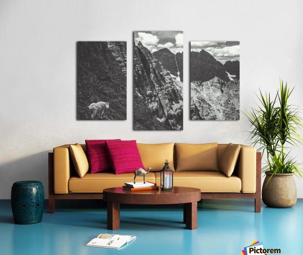 Pyramid Peak Mountain Goat Canvas print