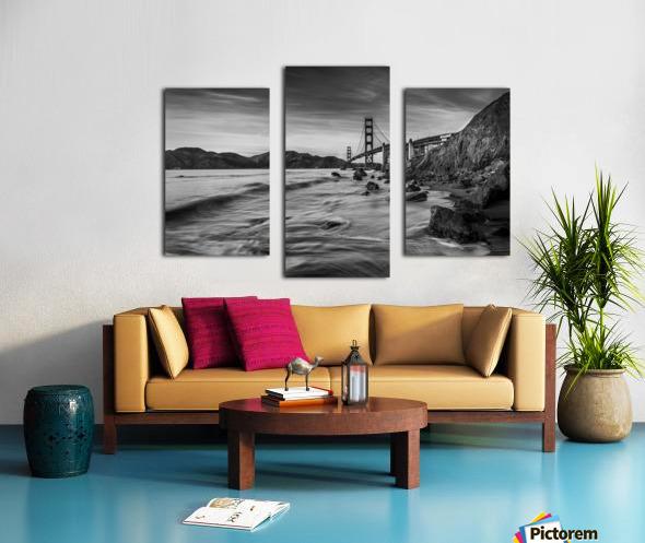 B&W Golden Gate Sunset Canvas print