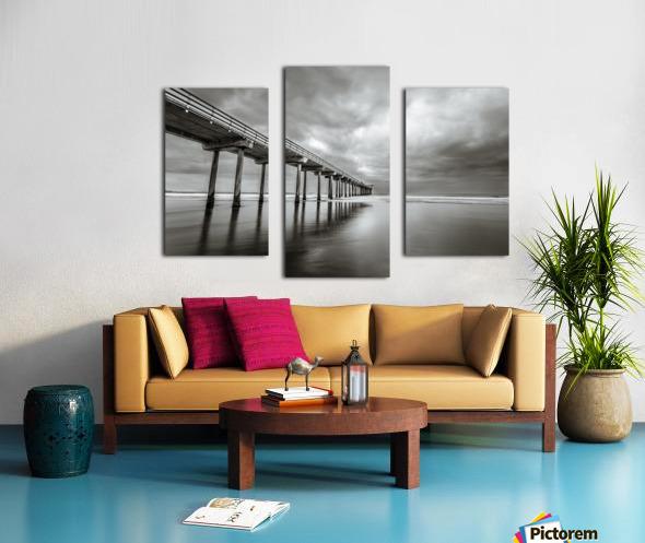 B&W Scripps Pier San Diego Canvas print