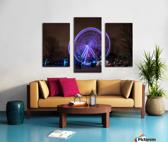 The ferris wheel Canvas print