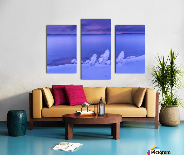 Icy blues Canvas print