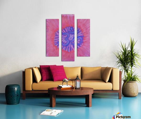 Om pink purple spring 2020 Canvas print