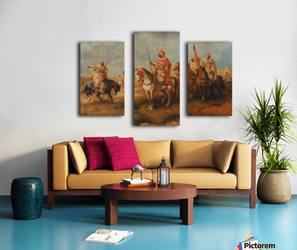 Bedouins on Horseback Canvas print