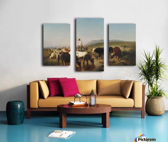 Herde mit eselreitendem Hirtenknaben Canvas print