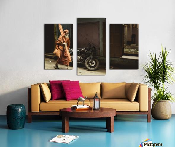 Varanasi Window - Pilgrim Canvas print