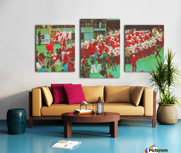 nebraska football art vintage college poster Canvas print