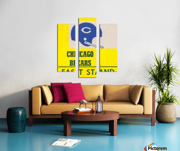 vintage chicago bears art poster metal canvas Canvas print