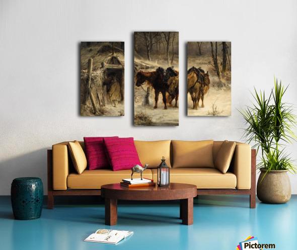 Resting horses Canvas print