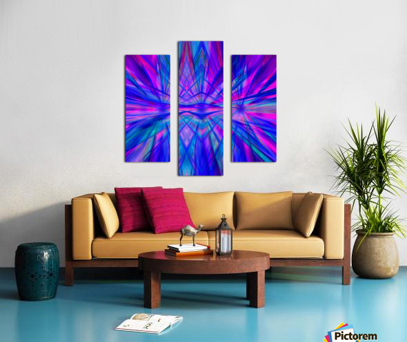 High Vitality - pink blue purple line abstract wall art Canvas print