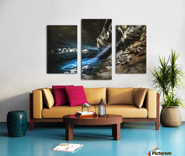 The Blue Cave Canvas print