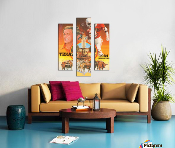 1984 Texas Longhorns Media Guide College Football Poster Canvas print