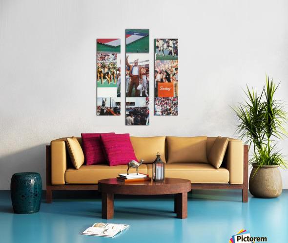 Texas Longhorns Football Poster_Texas Longhorn College Football Photo Collage Canvas print