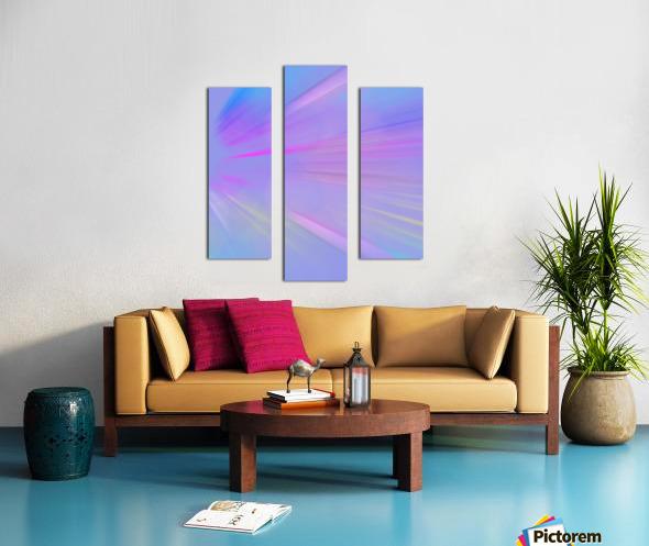 Purple Comet Canvas print