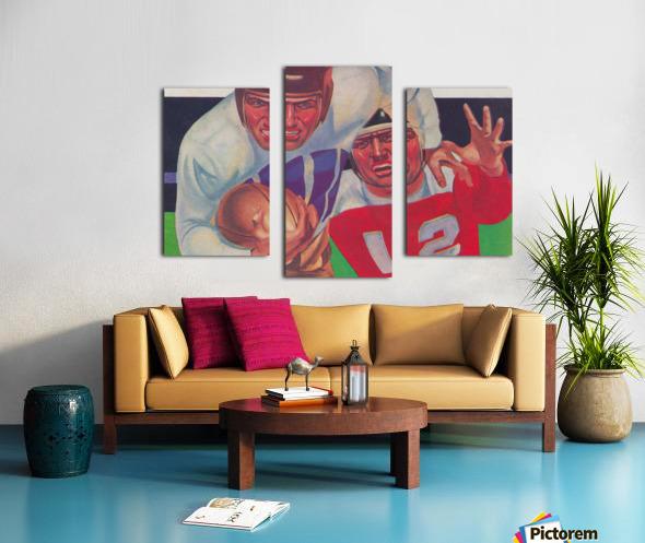 Vintage Football Fine Art Prints_ Old Football Art Poster Canvas print
