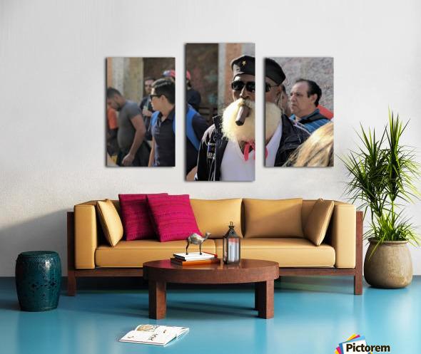 Cuban smoking cigar Canvas print