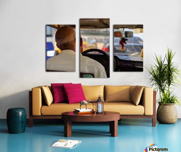 Taxi driver in Cuba Canvas print