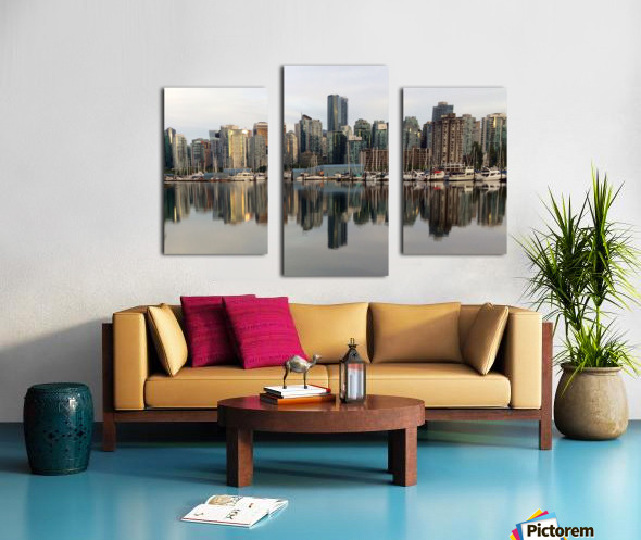 Downtown Reflection Canvas print