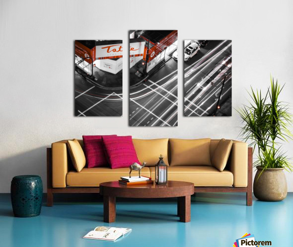 Street long exposure Canvas print
