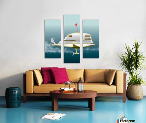 Imbarcazione Volante Dommo Canvas print